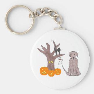 Labrador Retriever Chocolate Fall Keychain