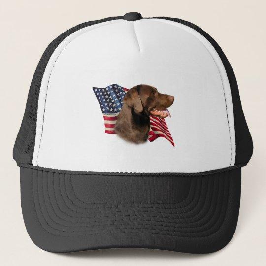 Labrador Retriever (chocolate) Flag Cap