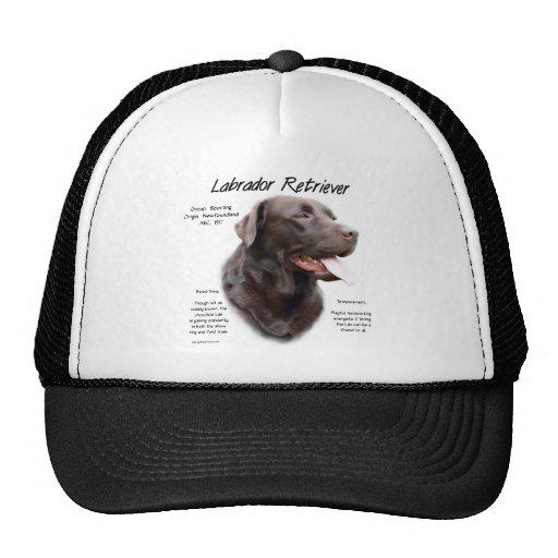Labrador Retriever (chocolate) History Design Mesh Hats