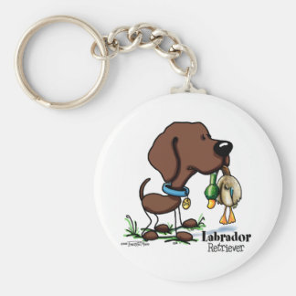 Labrador Retriever - Chocolate Key Ring