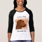 Labrador Retriever (Chocolate) Painting - Dog Art T-Shirt