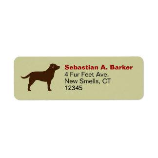 Labrador Retriever (Chocolate) Return Address Label