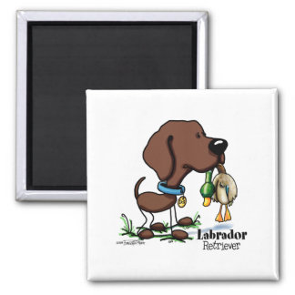 Labrador Retriever - Chocolate Square Magnet