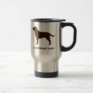 Labrador Retriever (Chocolate) Stainless Steel Travel Mug
