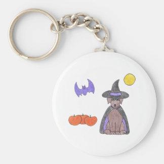 Labrador Retriever Chocolate Witch Keychain