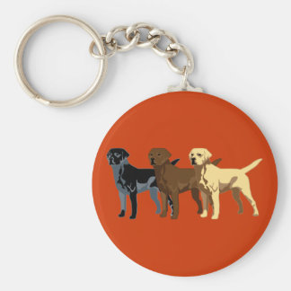 Labrador Retriever colors Key Ring