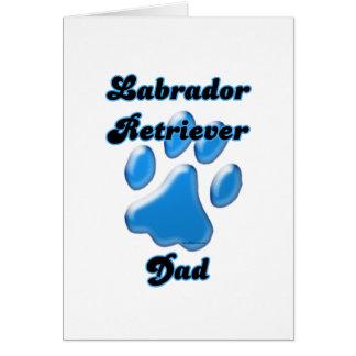 Labrador Retriever Dad Blue Pawprint Card