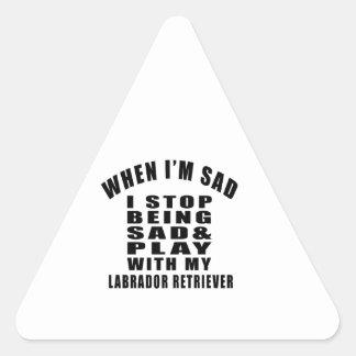 LABRADOR RETRIEVER Designs Triangle Sticker