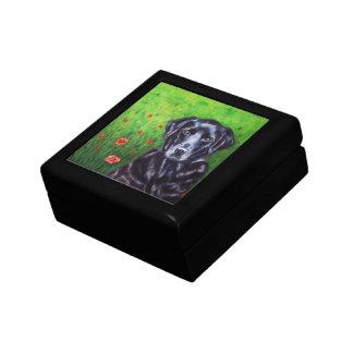 Labrador Retriever Dog Art - Poppy Small Square Gift Box