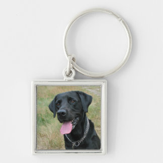 Labrador Retriever dog black keychain, gift idea Key Ring