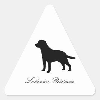 Labrador Retriever dog black silhouette stickers