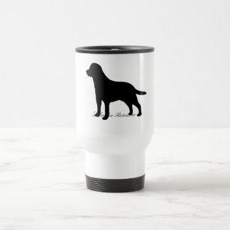 Labrador Retriever dog black silhouette travel mug