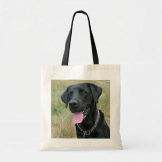 Labrador Retriever dog black tote bag, gift idea