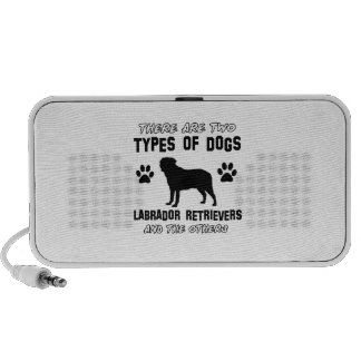 Labrador Retriever dog breed designs Portable Speakers