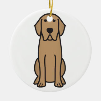 Labrador Retriever Dog Cartoon Christmas Ornament