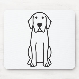 Labrador Retriever Dog Cartoon Mouse Mat