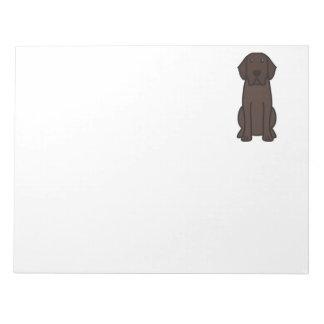 Labrador Retriever Dog Cartoon Notepad