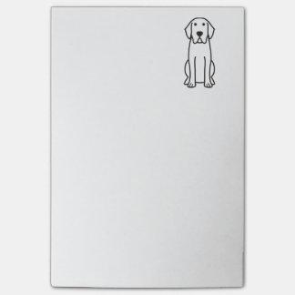 Labrador Retriever Dog Cartoon Post-it Notes