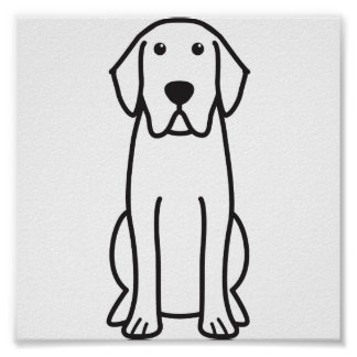 Labrador Retriever Dog Cartoon Poster
