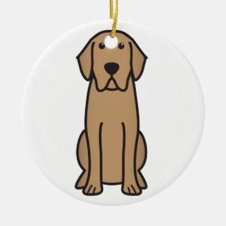 Labrador Retriever Dog Cartoon Round Ceramic Decoration