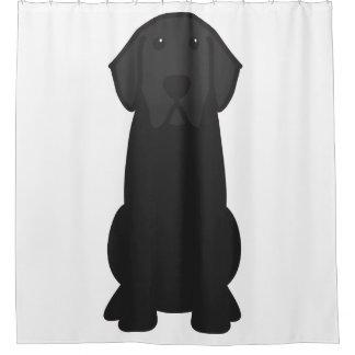 Labrador Retriever Dog Cartoon Shower Curtain