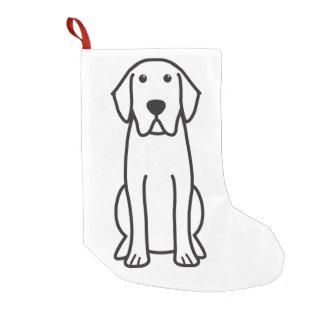 Labrador Retriever Dog Cartoon Small Christmas Stocking