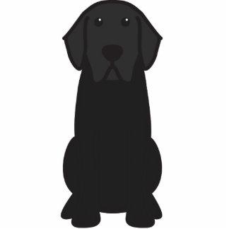 Labrador Retriever Dog Cartoon Standing Photo Sculpture