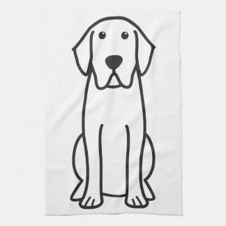 Labrador Retriever Dog Cartoon Tea Towel
