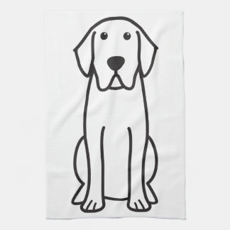 Labrador Retriever Dog Cartoon Towel