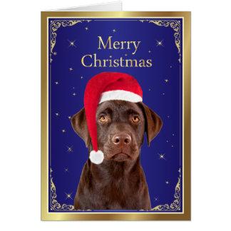 Labrador Retriever dog custom christmas card