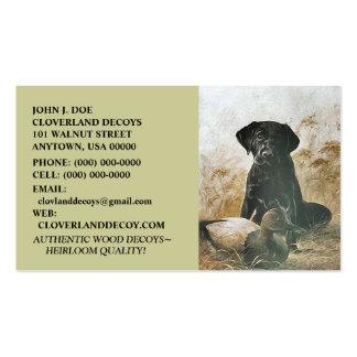LABRADOR RETRIEVER DOG DECOY BUSINESS CARDS