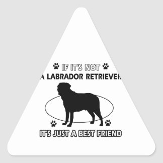 LABRADOR RETRIEVER dog designs Triangle Sticker