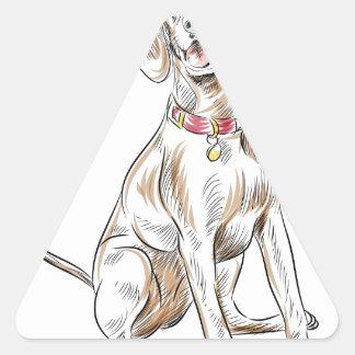 Labrador Retriever Dog Drawing Triangle Sticker
