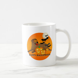 Labrador Retriever Dog Halloween Coffee Mugs