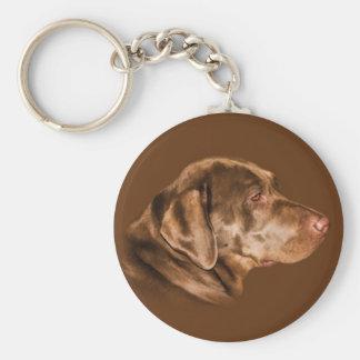 Labrador Retriever Dog Keychain, Customizable Basic Round Button Key Ring