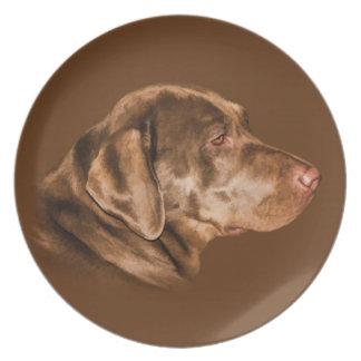 Labrador Retriever Dog, Plate, Customizable Plate