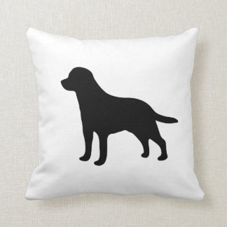 Labrador Retriever dog silhouette cushion pillow