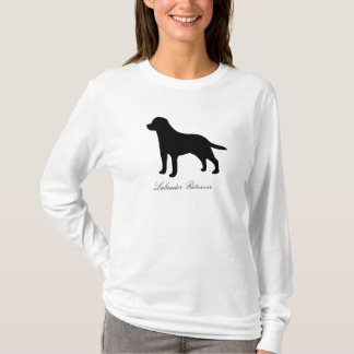 Labrador Retriever dog silhouette womens hoody