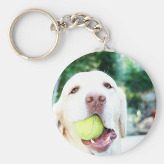 Labrador Retriever Dog Tennis Ball Key Ring