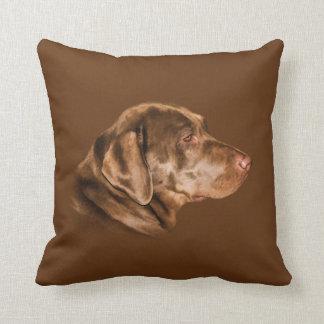 Labrador Retriever Dog, Throw Pillow, Customizable Cushion