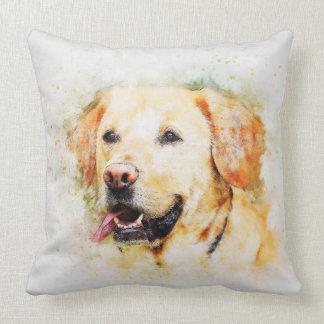 Labrador Retriever Dog Watercolour Cushion