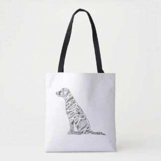 Labrador Retriever Doodle Design Tote Bag