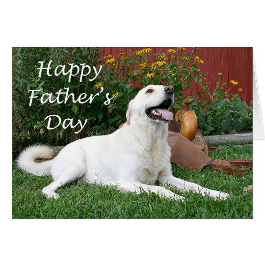 Labrador Retriever Father's Day card