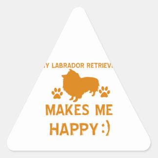 Labrador Retriever gift items Triangle Sticker
