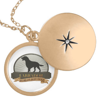 Labrador Retriever Gold Plated Necklace
