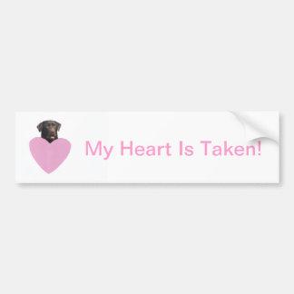 Labrador Retriever Happy Valentine's Day Bumper Sticker