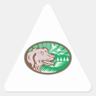 Labrador Retriever Hunting Dog Retro Stickers