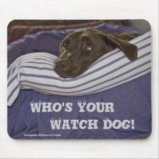 Labrador Retriever In Bed Mouse Mat
