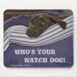Labrador Retriever In Bed Mousemat