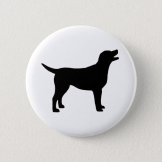Labrador Retriever (in black) 6 Cm Round Badge